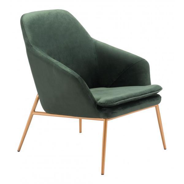 Debonair Arm Chair Green & Gold