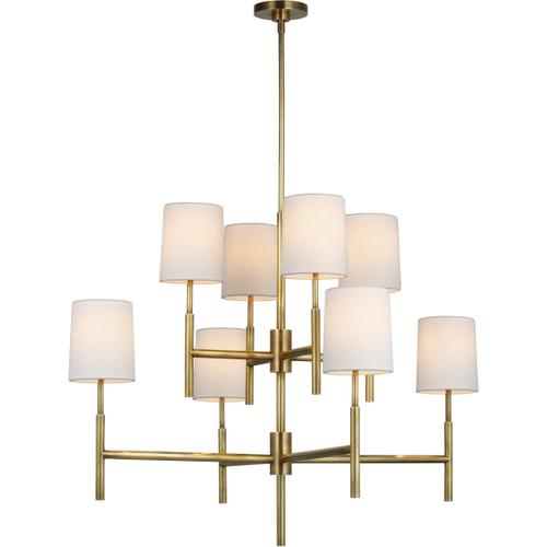 Visual Comfort - Barbara Barry Clarion LED 37 inch Soft Brass Two Tier Chandelier Ceiling Light, Large