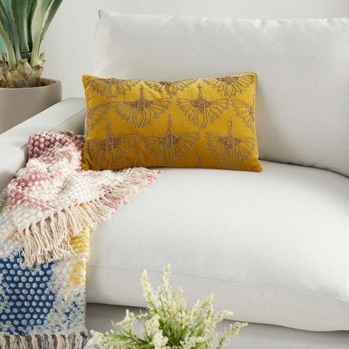 """Sofia Az534 Gold 12"""" X 20"""" Throw Pillow"""