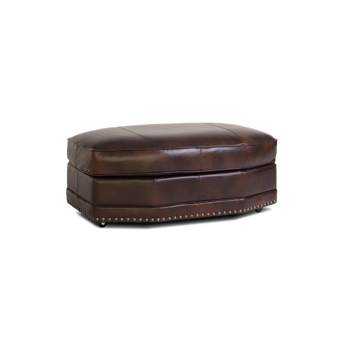 Smith Brothers Furniture - Leather Angular Ottoman