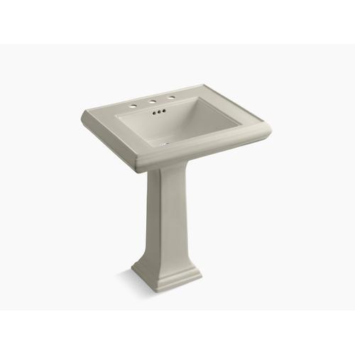 "Sandbar Classic 27"" Pedestal Bathroom Sink With 8"" Widespread Faucet Holes"