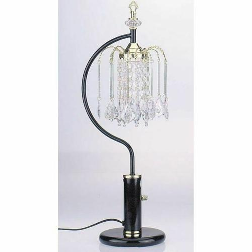 ACME Chandelier Table Lamp - 03720BK - Black - Crystalline Lamp
