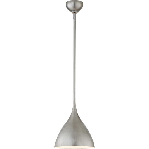 AERIN Agnes 1 Light 10 inch Burnished Silver Leaf Pendant Ceiling Light, Small