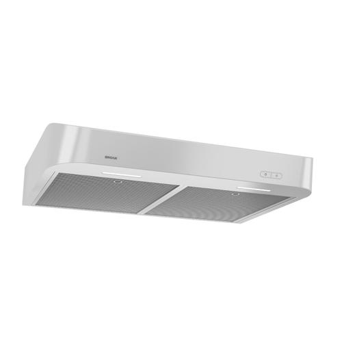 Broan® 30-Inch Convertible Under-Cabinet Range Hood w/ Easy Install System, 250 CFM, White
