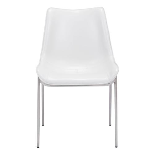 Zuo Modern - Magnus Dining Chair White & Silver