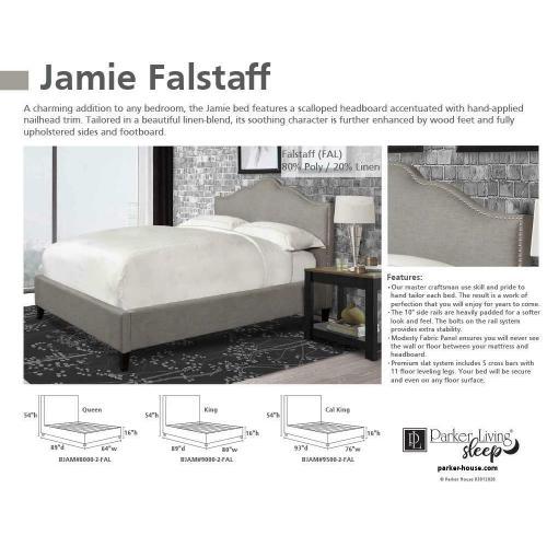 JAMIE - FALSTAFF King Bed 6/6 (Grey)