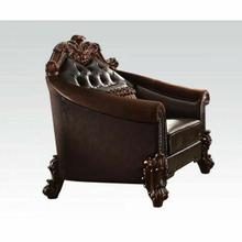 ACME Vendome II Chair w/1 Pillow - 53132 - 2-Tone Dark Brown PU & Cherry