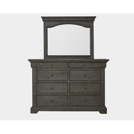 Dresser \u0026 Mirror - Char-Brown Finish