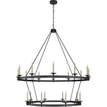 View Product - Chapman & Myers Launceton 20 Light 64 inch Bronze Two Tiered Chandelier Ceiling Light, XXL