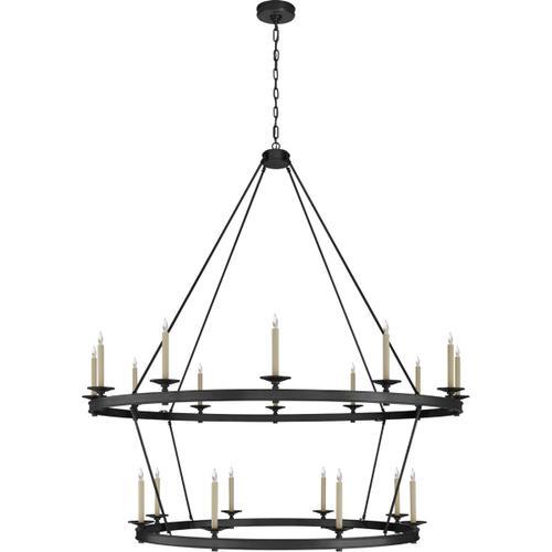 Visual Comfort - Chapman & Myers Launceton 20 Light 64 inch Bronze Two Tiered Chandelier Ceiling Light, XXL