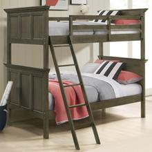 See Details - San Mateo Youth Twin over Twin Bunk Bed  Gray