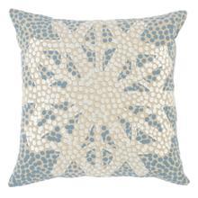 VE Radiant Snowflake Ivory/Blue 18x18