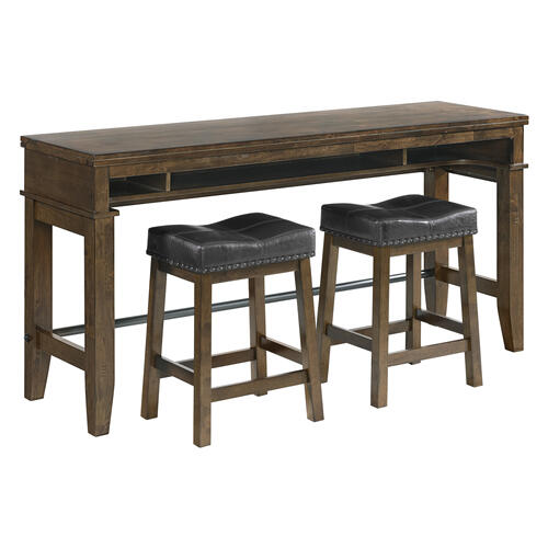 Kona Sofa Bar Table  Raisin