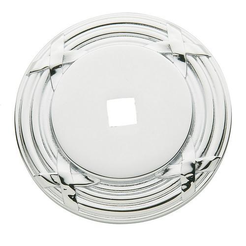 Baldwin - Polished Chrome Round Edinburgh Back Plate