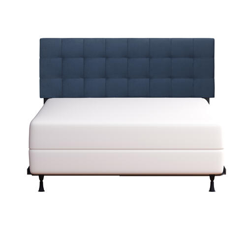 Delaney Upholstered King Headboard, Blue Velvet