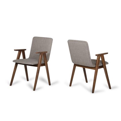 VIG Furniture - Maddox - Modern Sesame & Walnut Dining Chair (Set of 2)