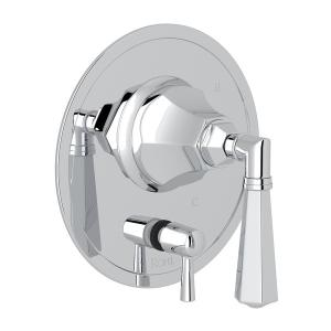 Polished Chrome Palladian Pressure Balance Trim With Diverter with Metal Lever Product Image