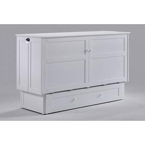 Night and Day Furniture - Clover Murphy Cabinet Bed in White Finish