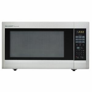 Sharp Appliances2.2 cu. ft. 1200W Sharp Stainless Steel Carousel Countertop Microwave Oven