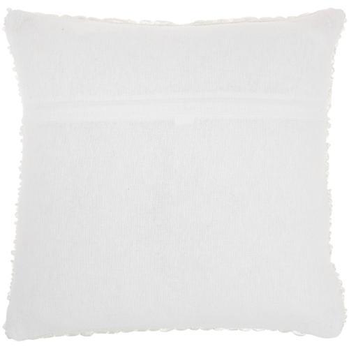 """Life Styles Dc257 White 20"""" X 20"""" Throw Pillow"""