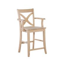 S-142AB 24'' Vineyard Arm stool