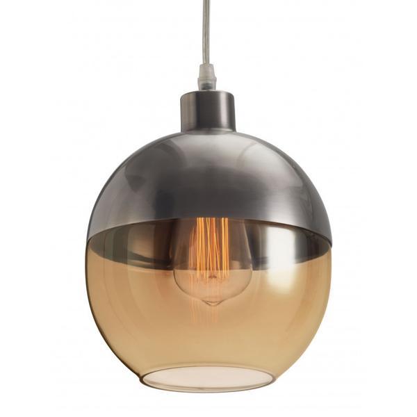 Trente Ceiling Lamp Satin & Amber