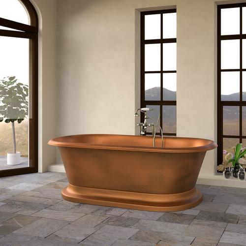 "Somerset 77"" Copper Double Roll Top Tub"