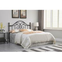 View Product - Traditional Black Iron Queen Headboard