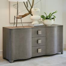 See Details - Toile Linen Credenza-Grey