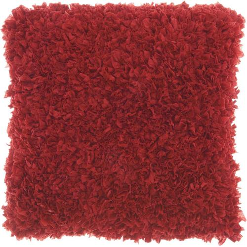 "Shag Dl660 Deep Red 17"" X 17"" Throw Pillow"