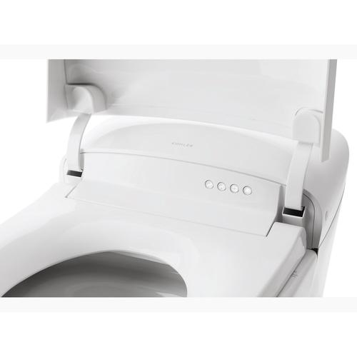 White With Sunrise Gold Trim One-piece Elongated Dual-flush Intelligent Chair-height Toilet