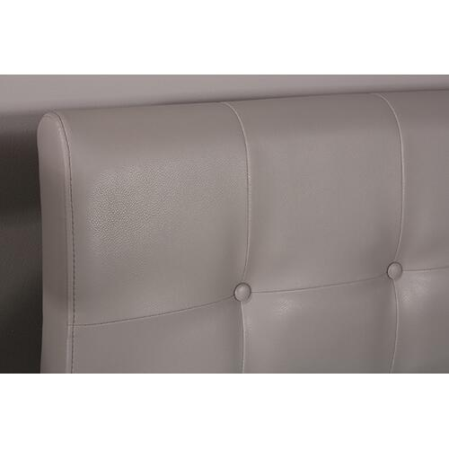 Product Image - Lusso Headboard - Twin - Gray Pu (faux Leather)