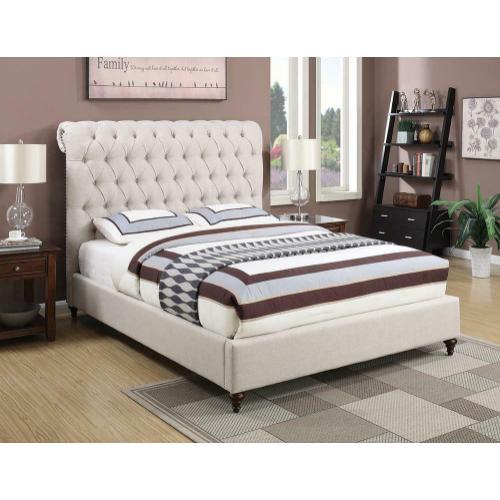 Devon Transitional Beige California King Bed