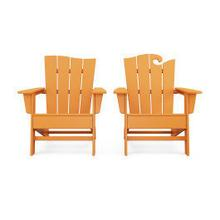 View Product - Wave 2-Piece Adirondack Set with The Wave Chair Left in Tangerine