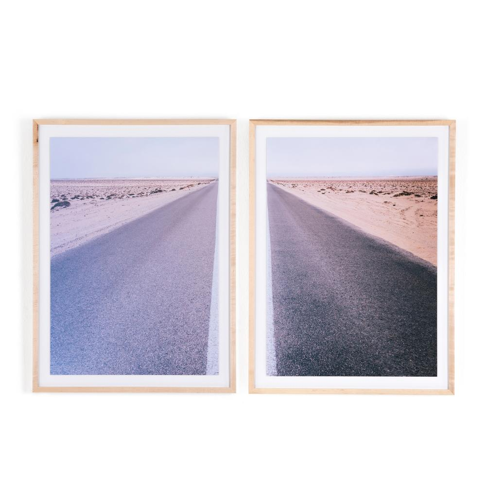 Split Road Diptych By Teague Collection