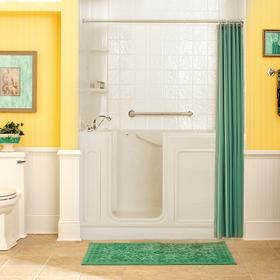 Acrylic Luxury Series 32x60 Whirlpool System Walk-in Tub, Left Drain  American Standard - Linen