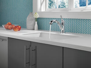 Chrome Single Handle Pull-Out Kitchen Faucet Product Image