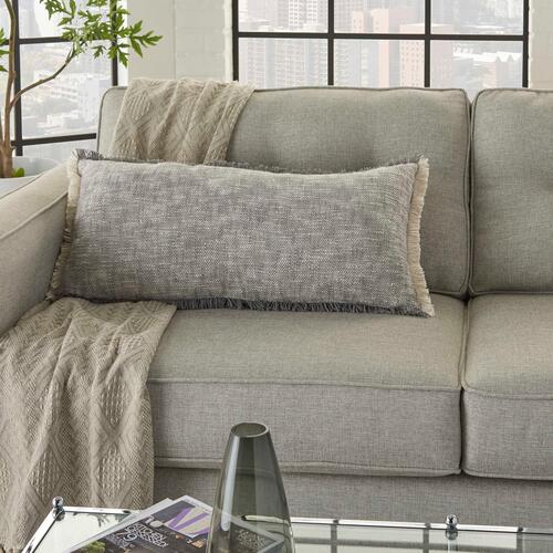 "Life Styles Sh020 Grey 14"" X 30"" Throw Pillow"