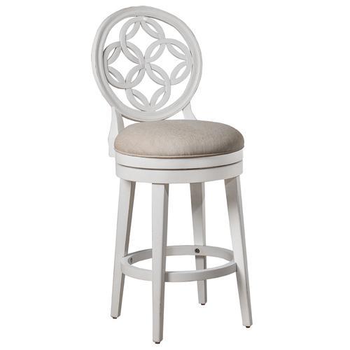 Product Image - Savona Swivel Counter Stool - White