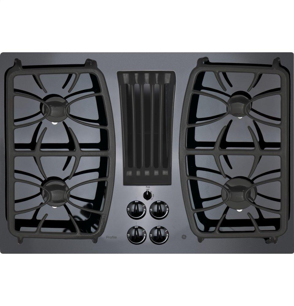 "GE Profile30"" Built-In Gas Downdraft Cooktop"