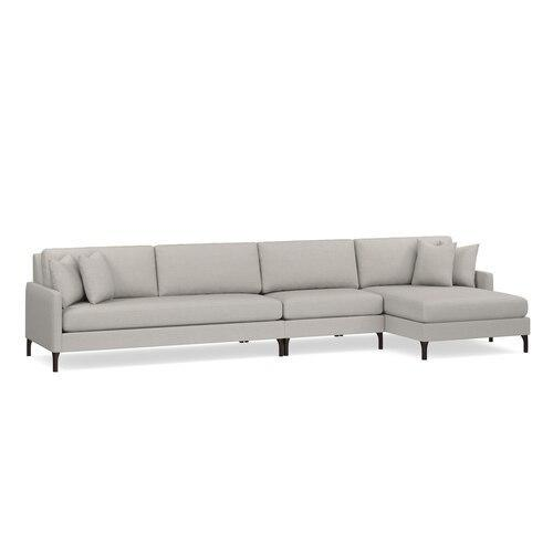 Serafina 3 Piece Right Chaise Sectional