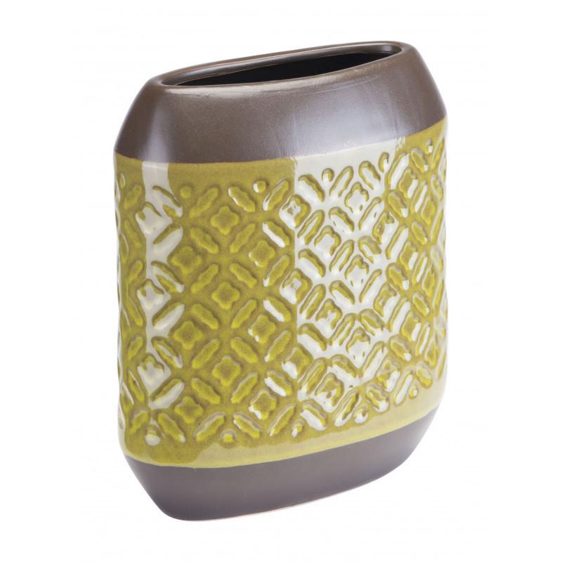 See Details - Small Square Planter Olive Green