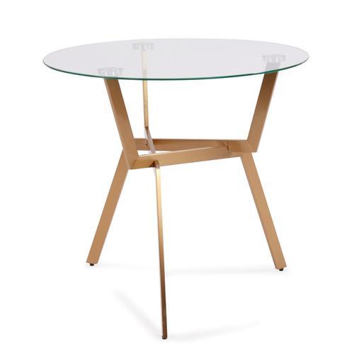 Howard Elliott - Round Gold Metal Side Table