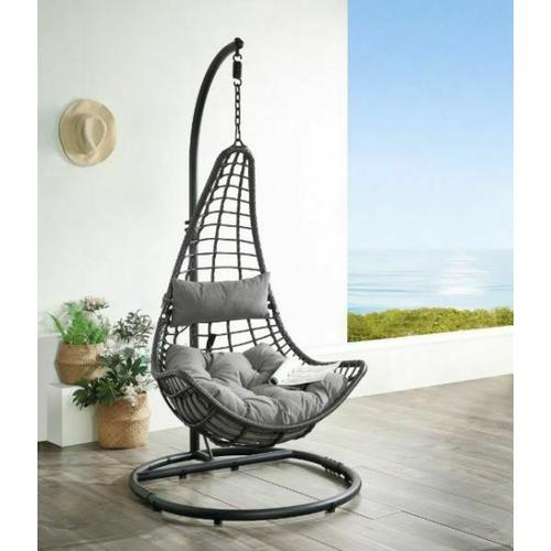 ACME Patio Hanging Chair with Stand - 45105
