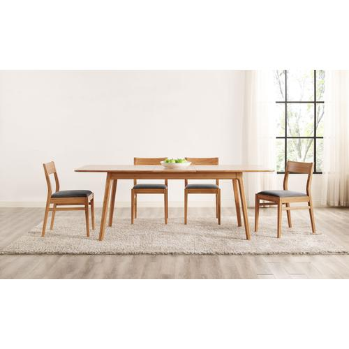 "Laurel 64 - 84"" Extendable Dining Table, Caramelized"
