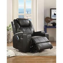 BLACK ROCKER RECLINER W/SWIVEL