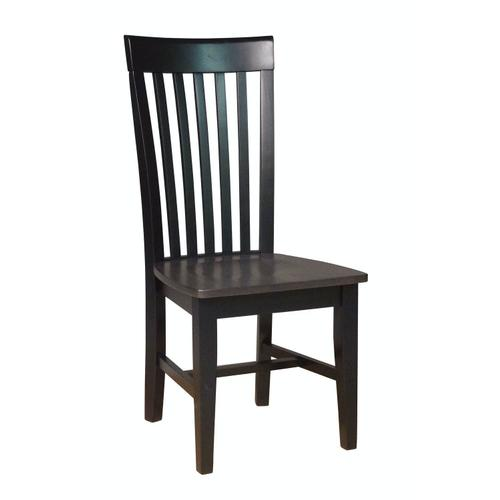Tall Mission Chair in Coal & Black