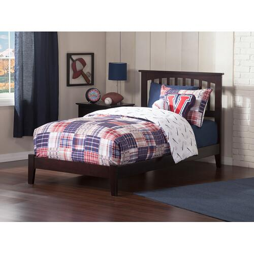 Atlantic Furniture - Mission Twin XL Bed in Espresso