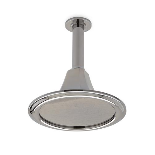Polished Nickel Harrison Rain Dome with Spray Holes