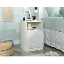 See Details - Elegant Faux Marble Bedside Table